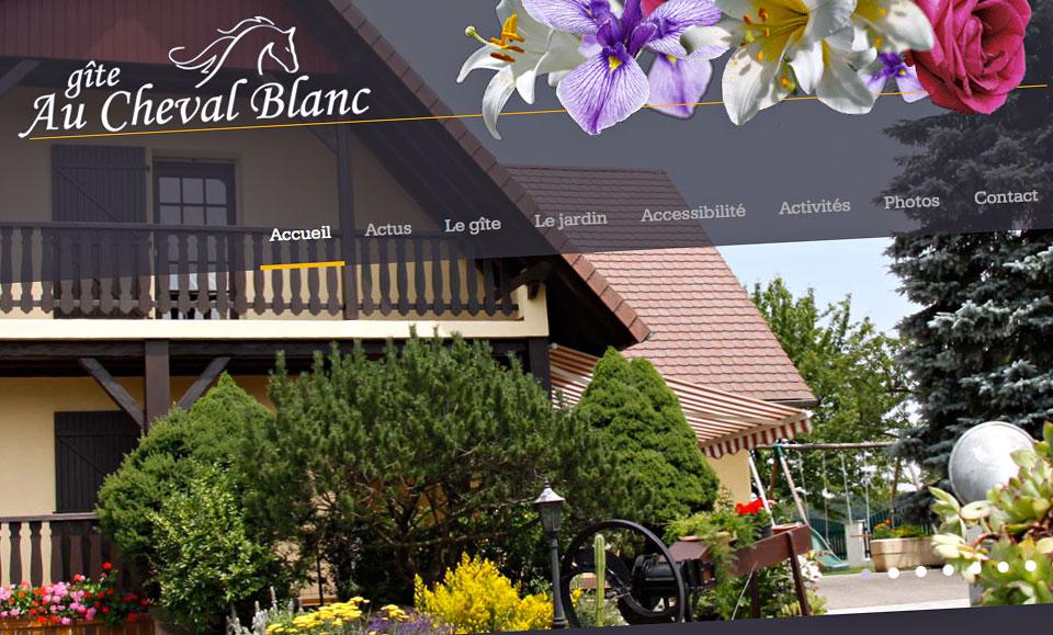 au cheval blanc agence de communication et site internet st louis saint louis mulhouse. Black Bedroom Furniture Sets. Home Design Ideas